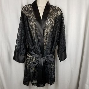 Victoria's Secret Intimates & Sleepwear - Victoria's Secret womens lace robe black one size